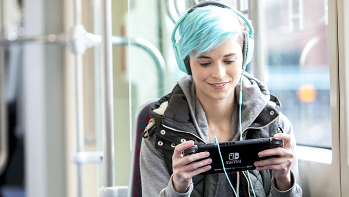 Nintendo Switch autobus