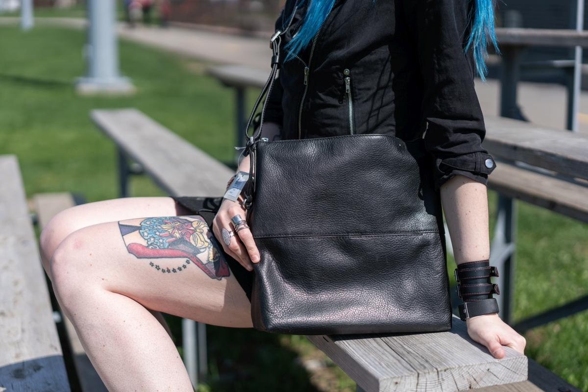 sac besace en cuir Charlotte de Fossil