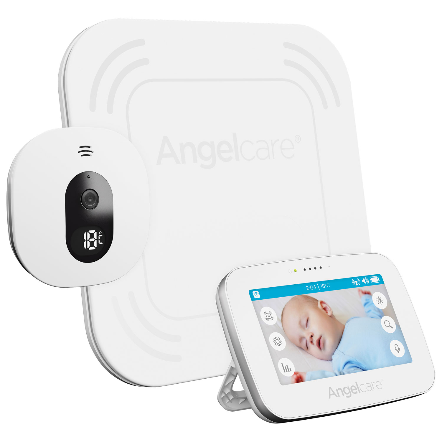 Interphone surveillance audiovidéo 4,3 po Angelcare