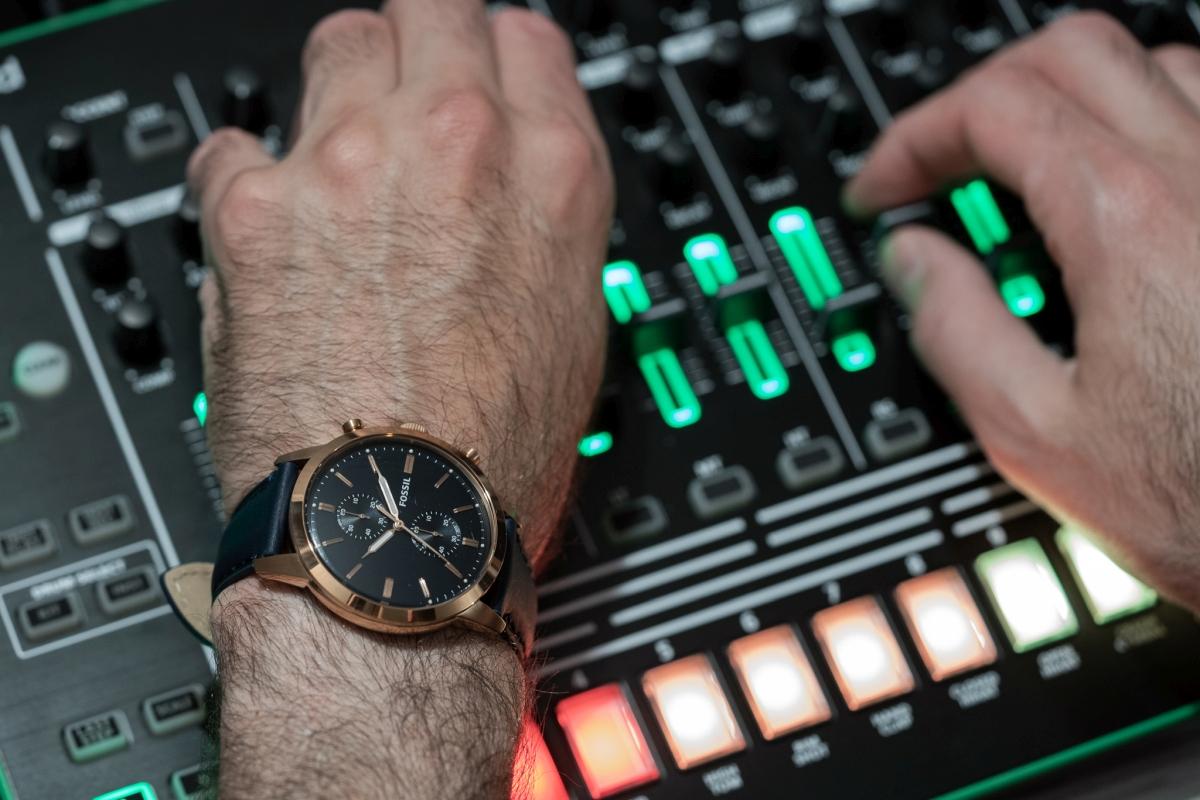 montre décontractée avec chronographe Townsman de Fossil