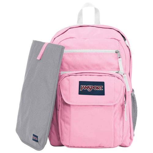 Sac à dos de jour Digital Student de JanSport pour portable de 15 po - Motif Prism Pink