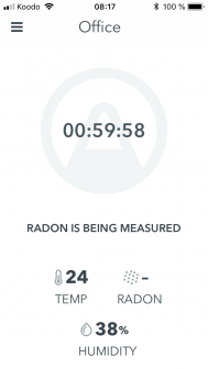 Premier test de détection du radon