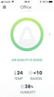 Mesure du taux de radon, de la température et du taux d'humidité