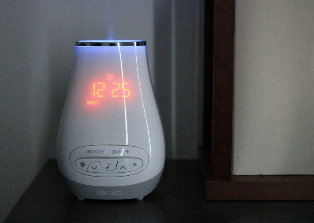 Réveil avec diffuseur d'arôme de homedics