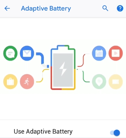 Android 9.0 Pie - Batterie