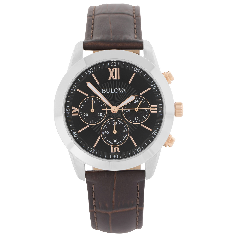 montre-bijou 42 mm pour hommes avec chronographe de Bulova