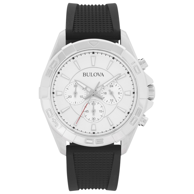montre-bijou 43 mm pour hommes avec chronographe de Bulova - Noir - Argenté