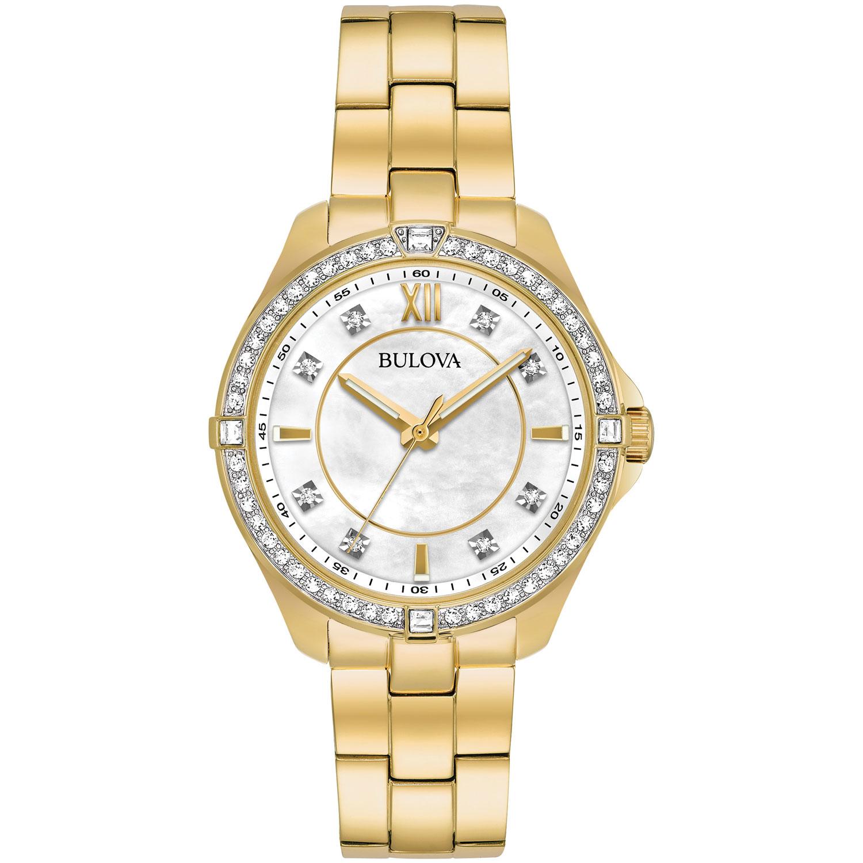 montre-bijou de 35 mm pour femmes Crystal de Bulova avec cristaux Swarovski