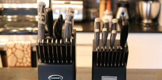 porte-couteaux de 17 et de 21 pièces de cuisinart