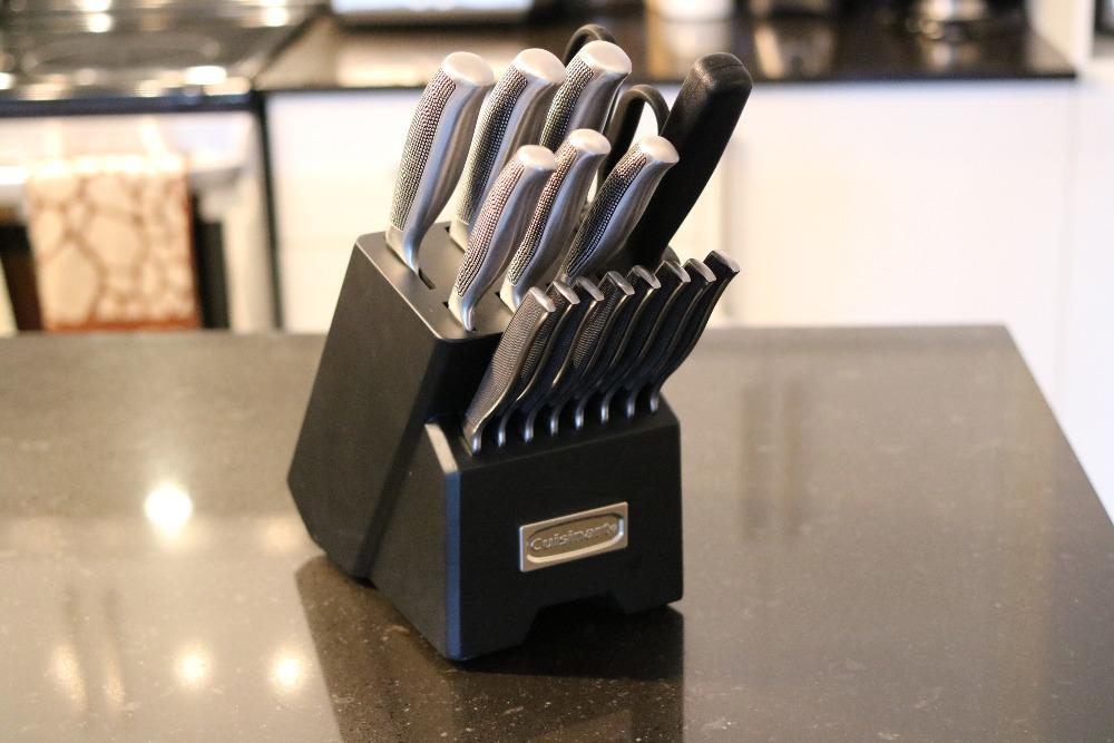 le porte-couteaux Impressions de 17 pièces de Cuisinart