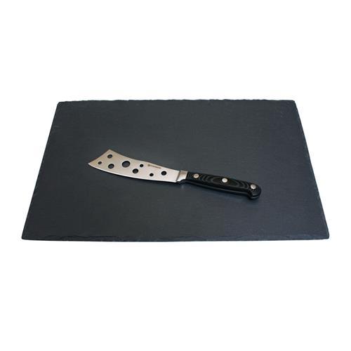 'ensemble de planche en ardoise et de couteau à fromage