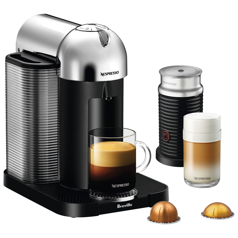 machine à café VertuoLine de Nespresso par Breville avec moussoir à lait Aeroccino Plus