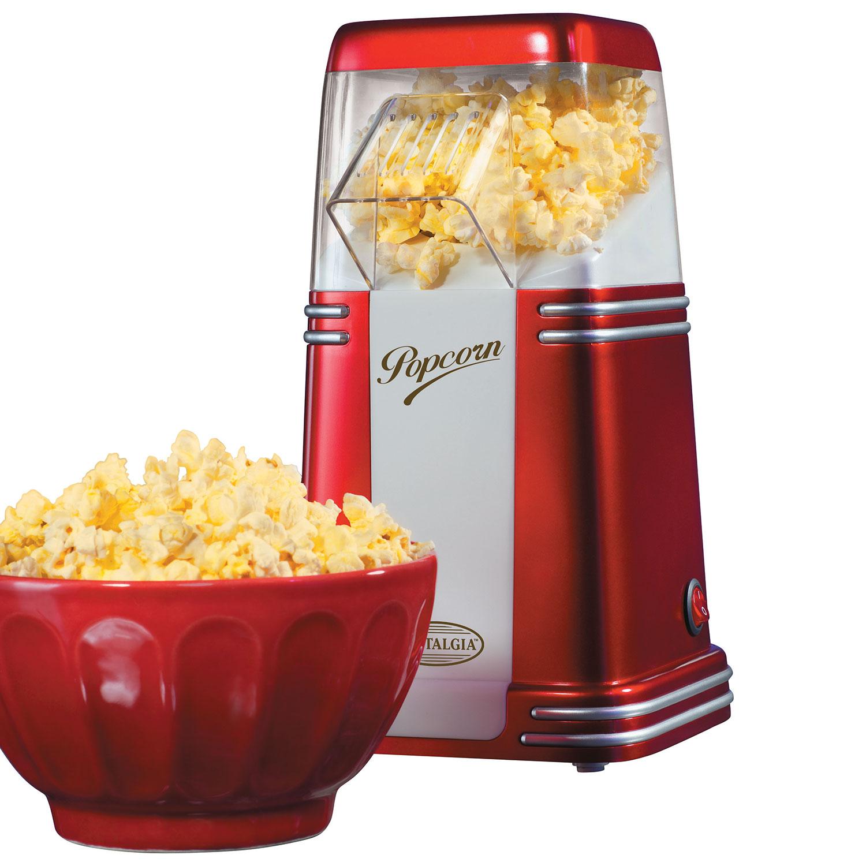 machine à maïs soufflé style années 50 8 tasses à air chaud de Nostalgia