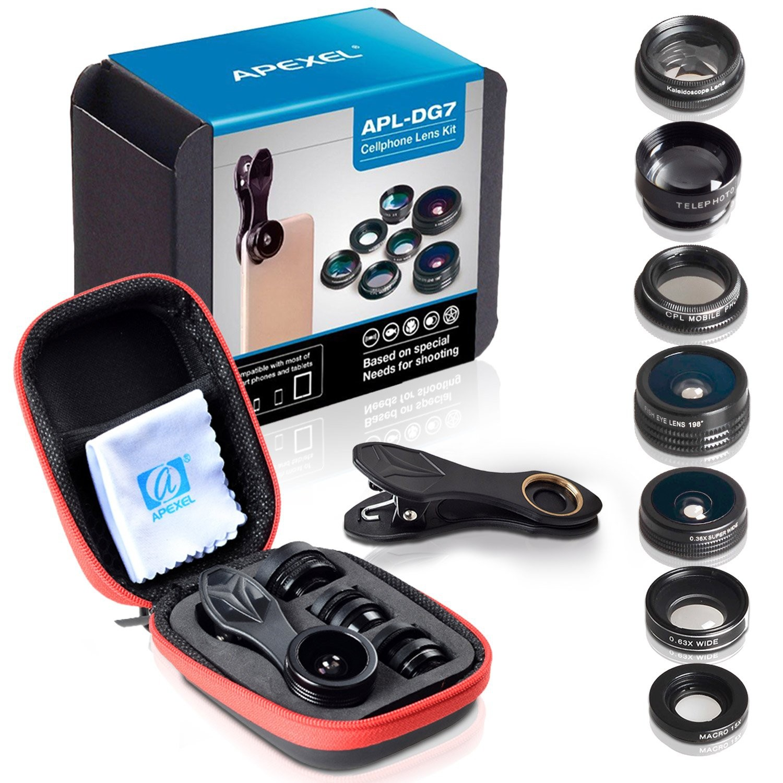 objectifs HD de haute qualité 7 en 1 pour caméra de téléphone cellulaire.