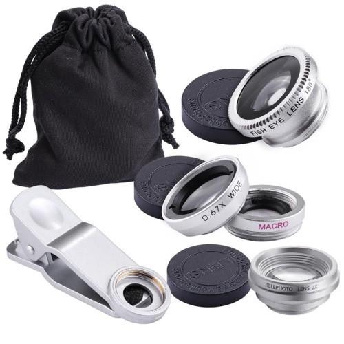 ensemble de lentilles pour téléphone intelligent