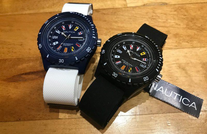 montres - nautica (noir et blanc)