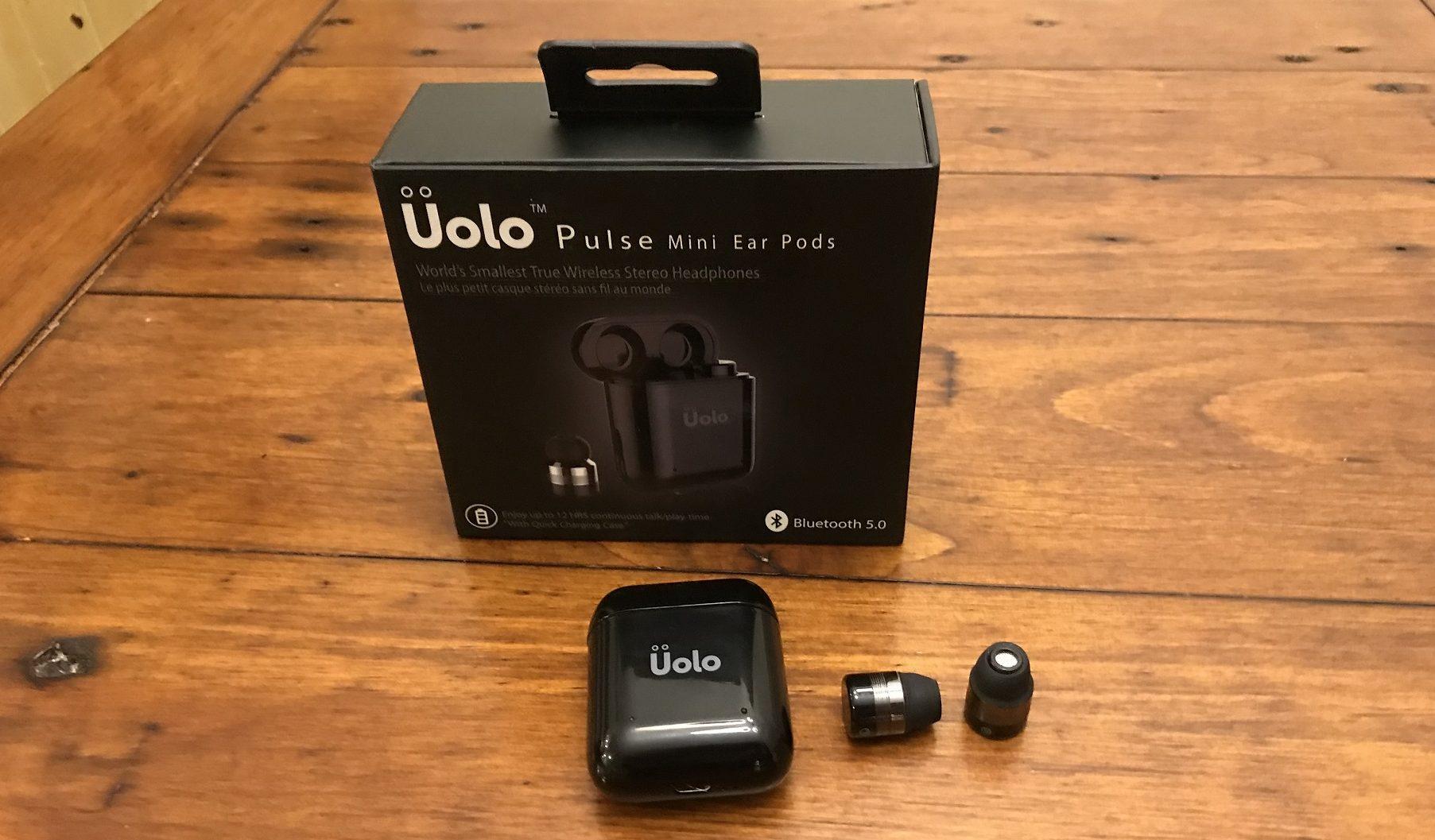 écouteurs bouton sans fil autonomes Pulse Mini d'Uolo