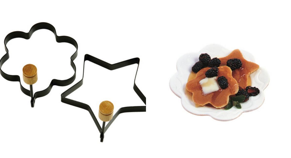 Moules en étoile fleur pour crêpes oeufs de Norpro