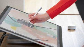 Surface Studio 2 en mode table à dessin