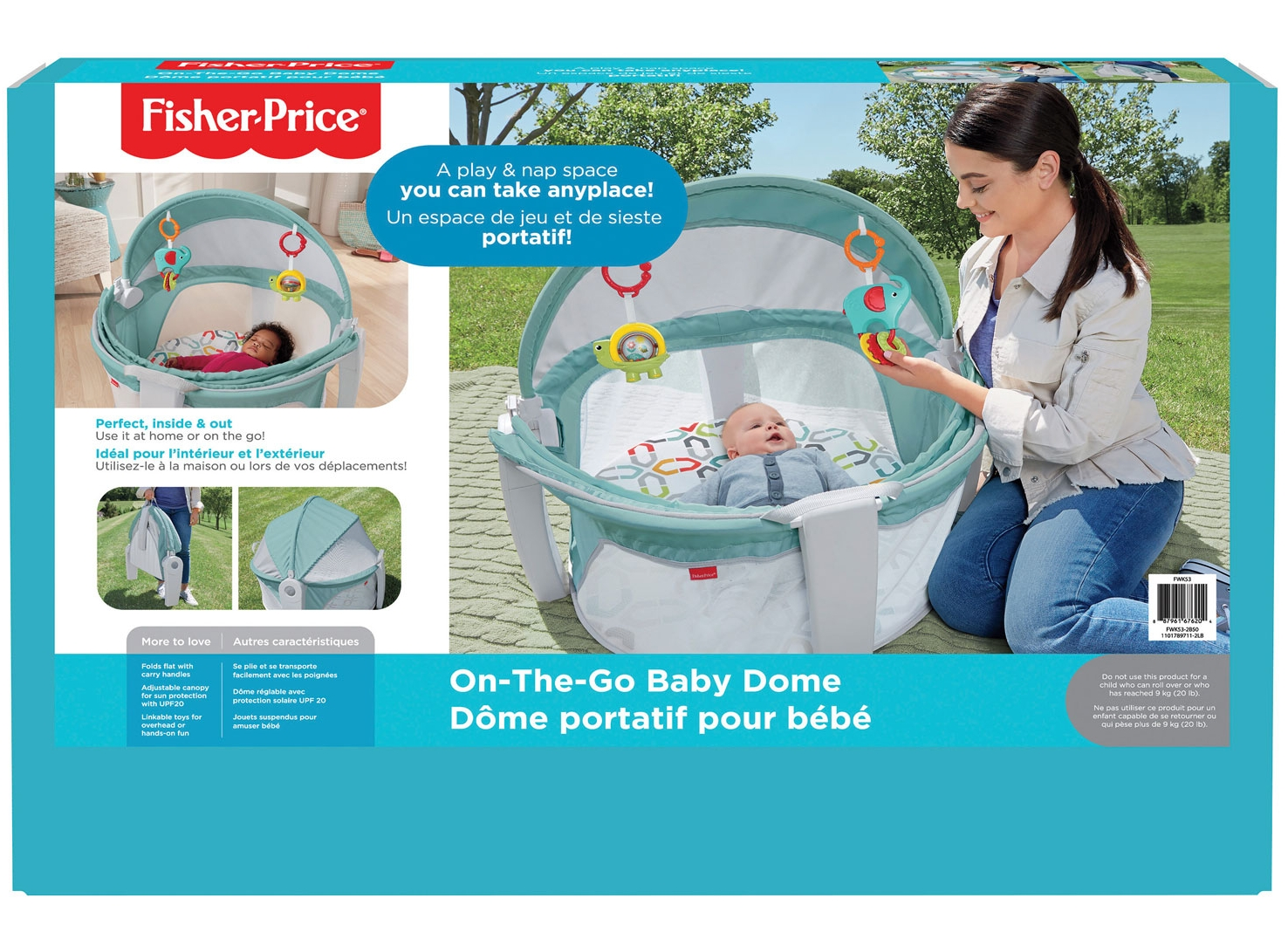 Lit de voyage pour bébé On-The-Go de Fisher-Price