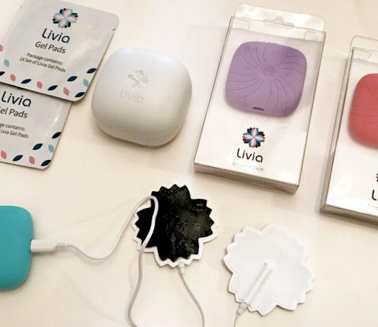 appareil de soulagement des crampes menstruelles de Livia