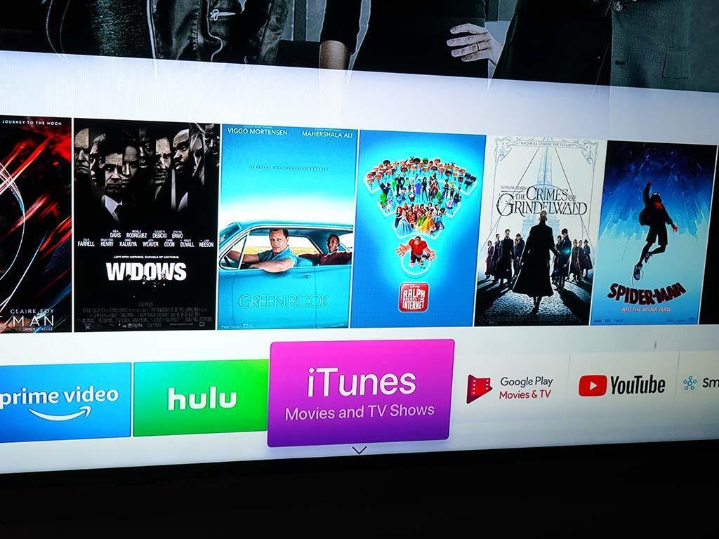 Les téléviseurs Samsung 2019 intègrent iTunes. Photo: Ted Kritsonis.
