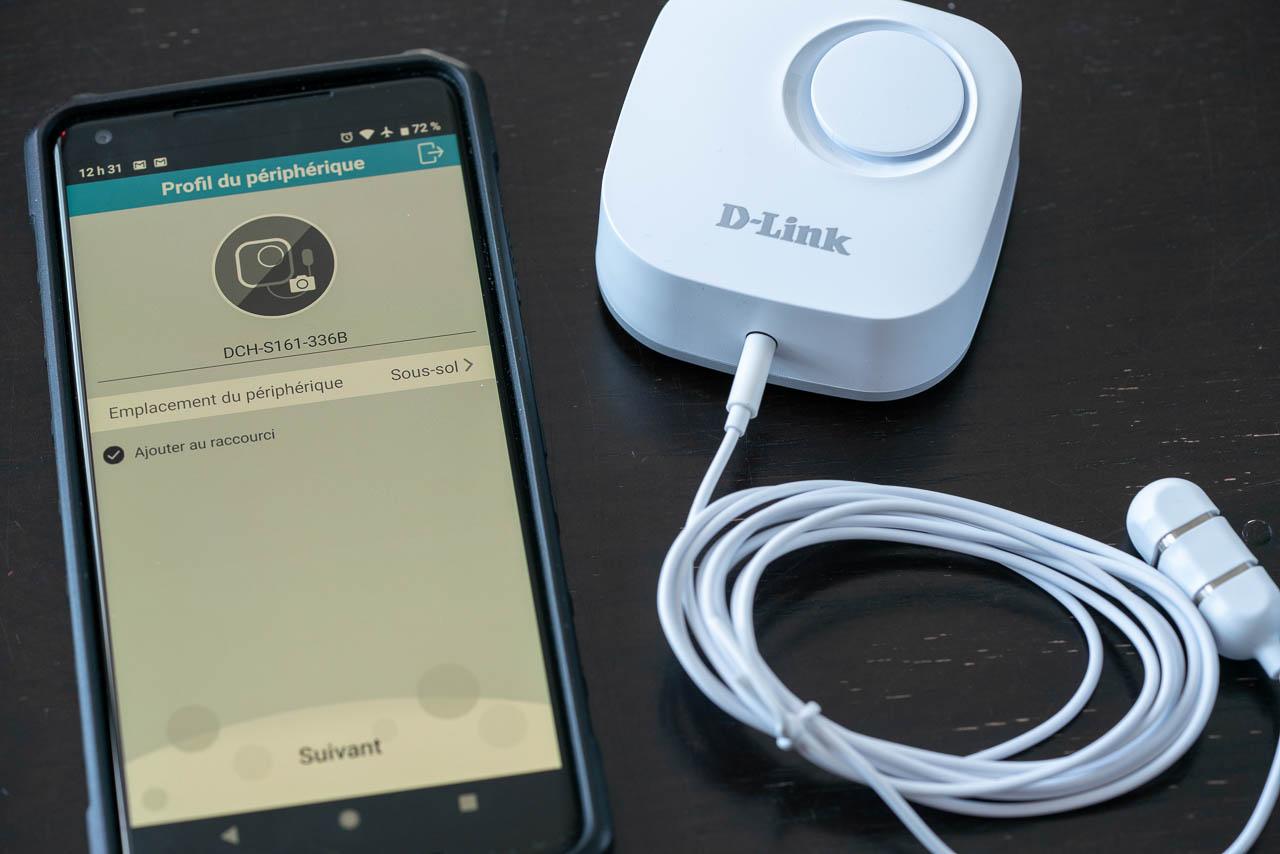 capteur d'eau Wi-Fi de D-Link