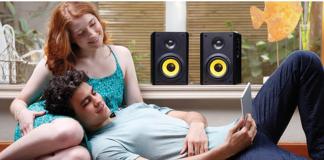 Haut-parleur d'étagère Bluetooth 340 W KÜRBIS de Thonet Vander - Paire - Noir Best Buy Canada(2)