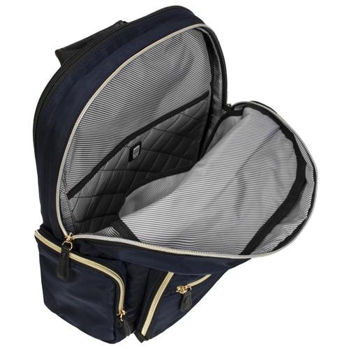 Sac à dos Silky Poly de Kenneth Cole pour portable de 15 po - Bleu marine Best Buy Canada
