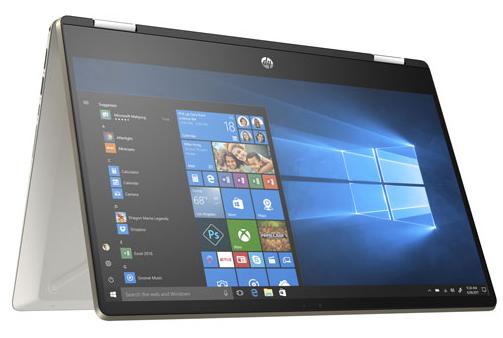 Portable 2-en-1 tactile 14 po Pavilion x360 HP - Argenté (Core i5-8265U d'Intel SSD 256 Go RAM 8 Go)