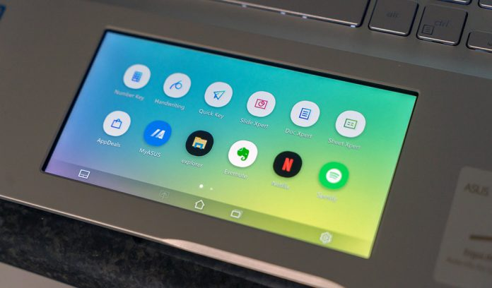 Screenpad 2.0 sur le VivoBook S15 d'ASUS