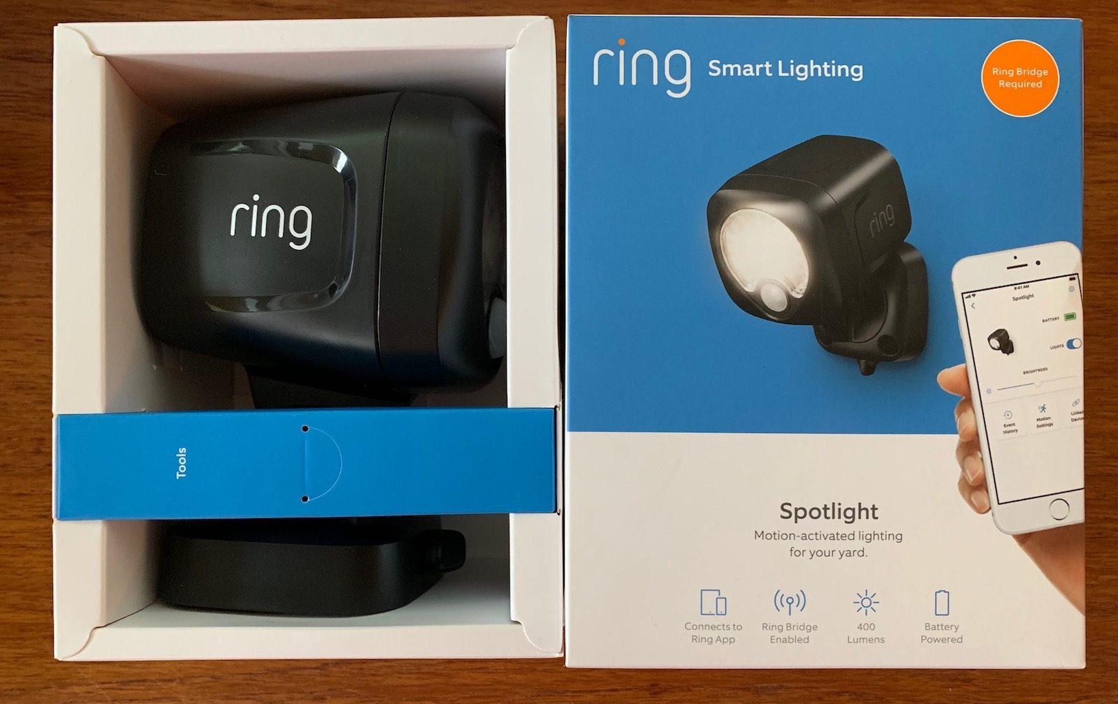 système d'éclairage intelligent sans fil résidentiel de Ring