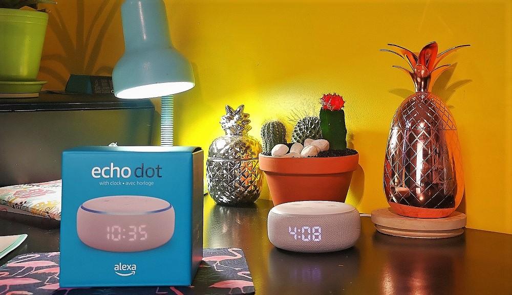 Echo Dot Alexa horloge Amazon