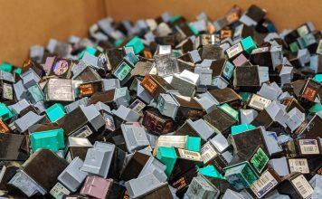 Des millions de cartouches d'encre usées de HP