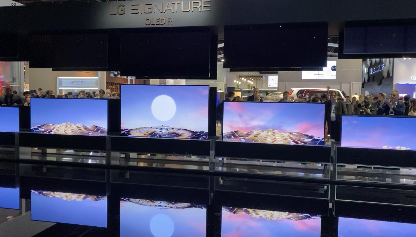 téléviseur rétractable LG