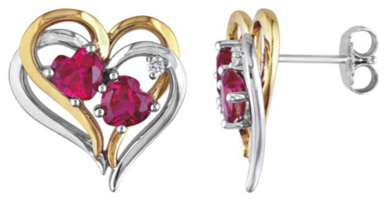 boucles d'oreilles rubis argent starling
