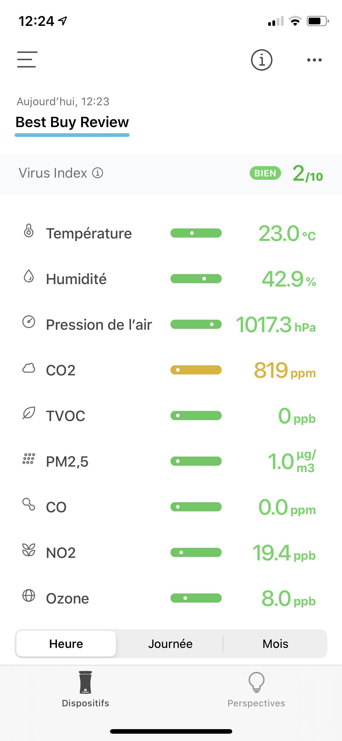 Image of uHoo application on iOS