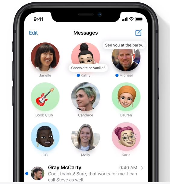 Image of iOS14 Group Message on iphones