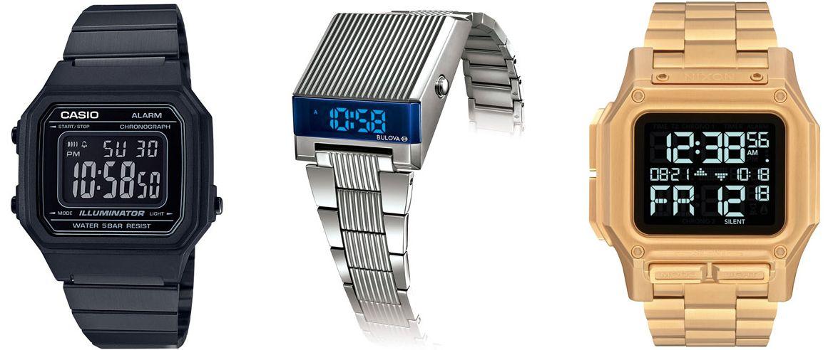 Les montres numériques reviennent en force avec de nouveaux styles rétro