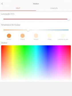 L'application Sengled permet de contrôler la luminosité, la température et la couleur des éclairages.