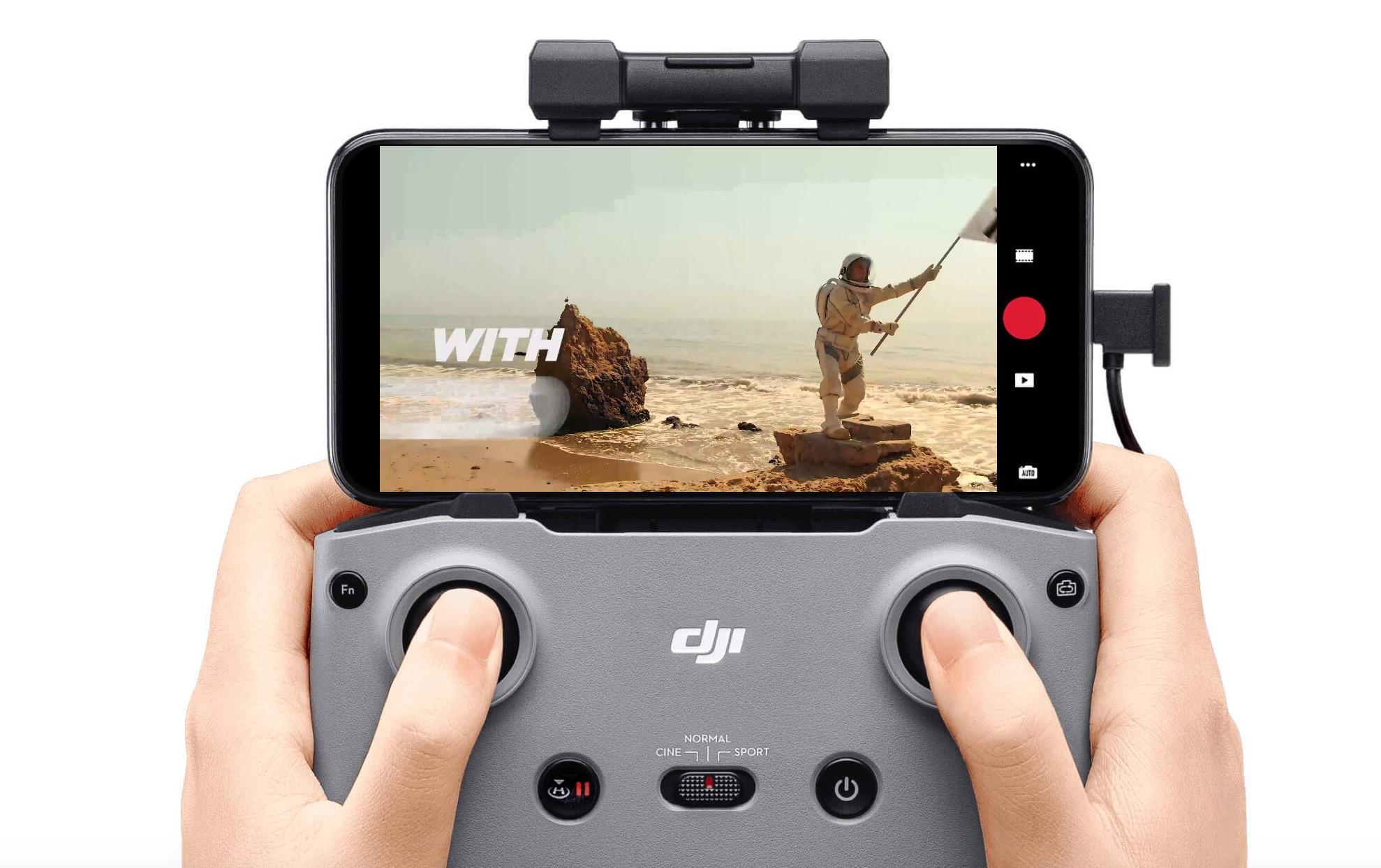 Télécommande du drone Mini 2 de DJI.