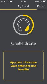 L'application Sound+ de Jabra calcule un profil auditif sur mesure pour chaque oreille.