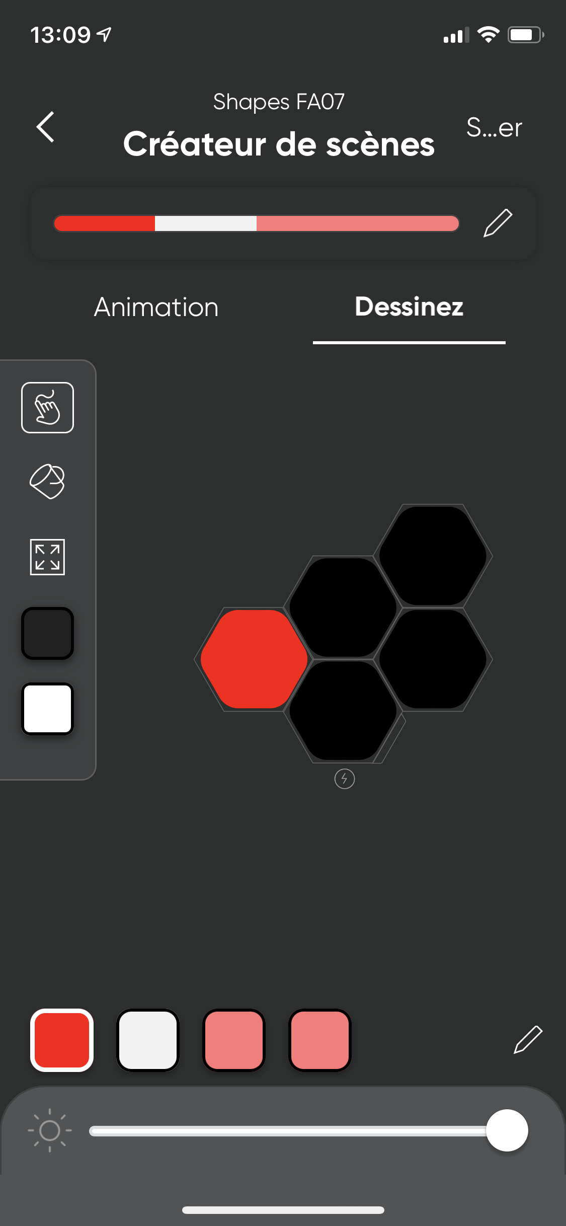 Image of Nanoleaf application on iOS