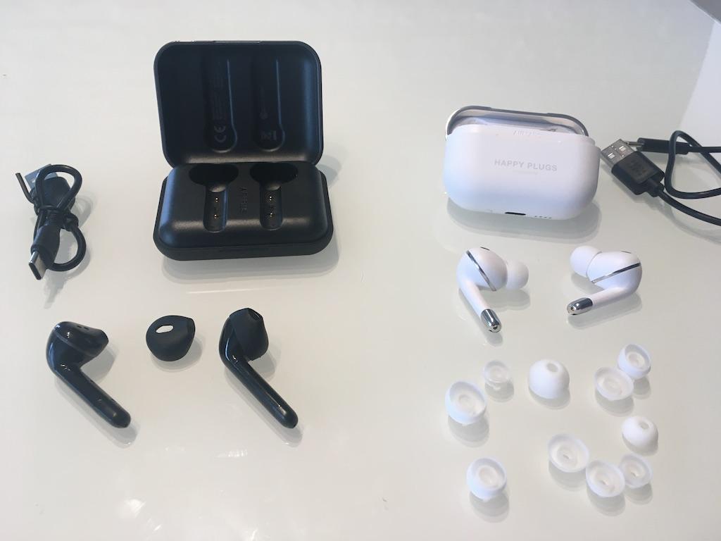 Matériel fourni avec les écouteurs Air 1 de Happy Plugs.