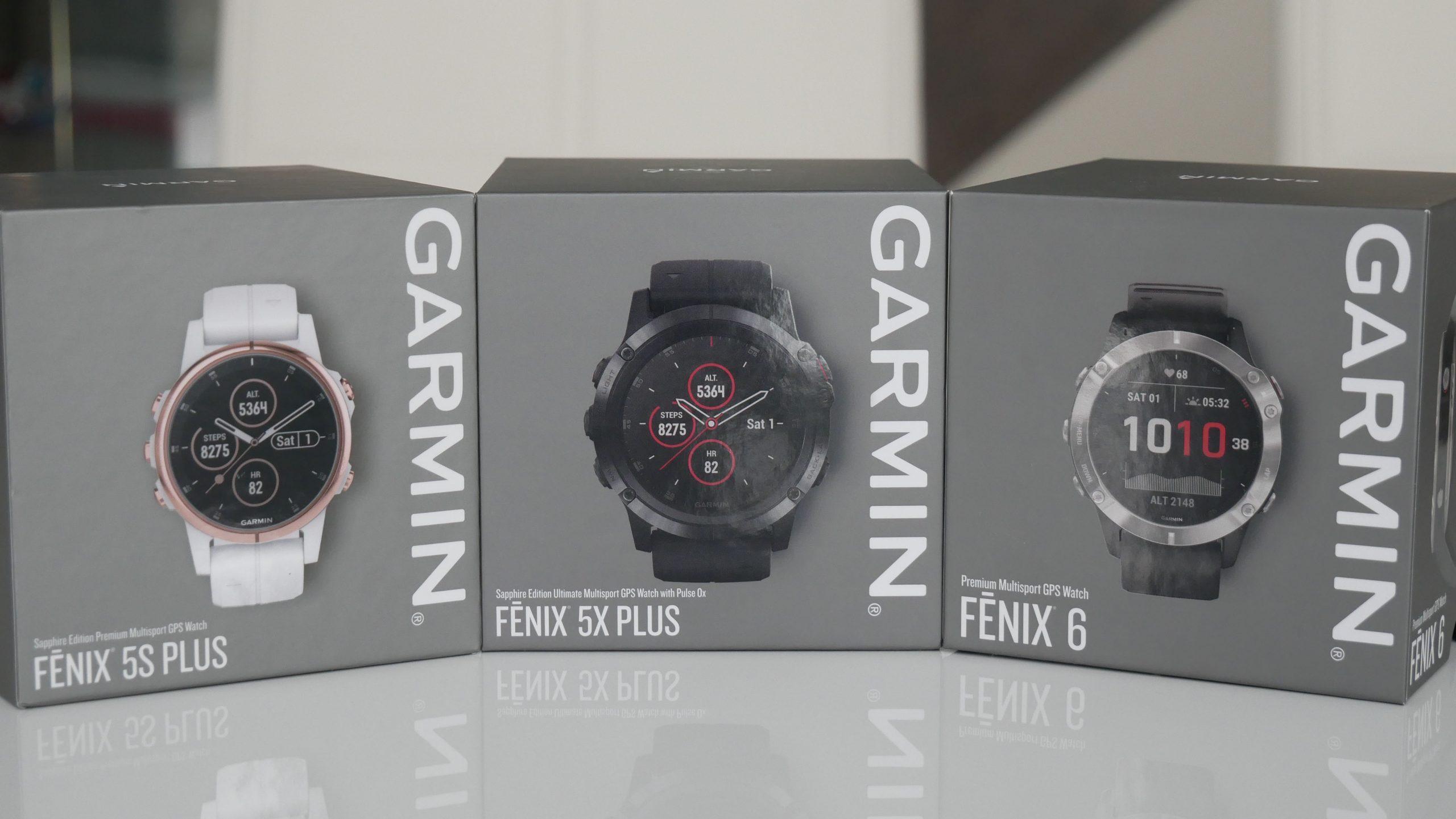 Image of Garmin Fenix 5S Plus, 5X Plus and 6