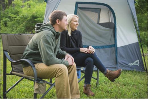 Couple en camping