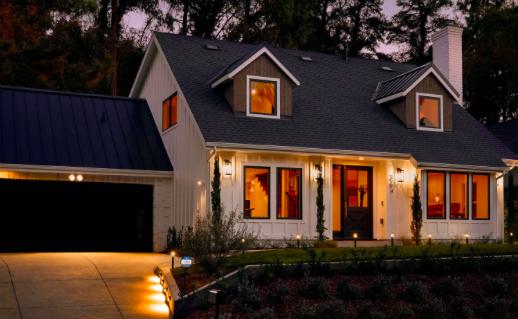 L'éclairage intelligent à l'extérieur de la maison