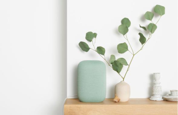 Le Google Nest Audio fabriqué à partir de matériaux recyclés