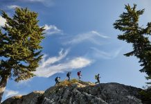 Image of people on mountain use GPS Garmin System