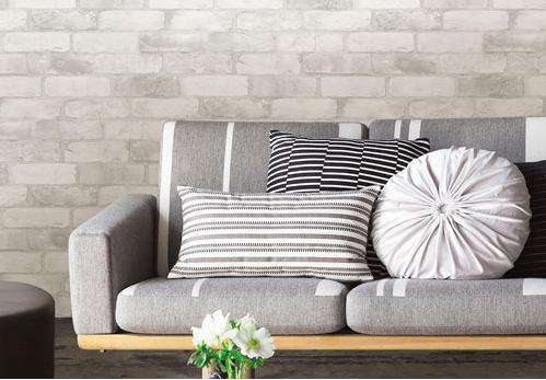 Des coussins décoratifs pour le divan